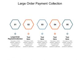 Large Order Payment Collection Ppt Powerpoint Presentation Styles Layouts Cpb