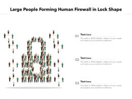 Large People Forming Human Firewall In Lock Shape