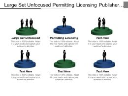 Large Set Unfocused Permitting Licensing Publisher Manuscript Platform