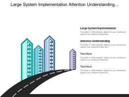 Large System Implementation Attention Understanding Subject Area Spanned