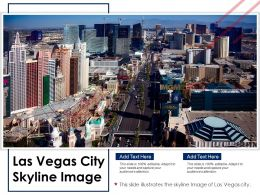 Las Vegas City Skyline Image Powerpoint Presentation PPT Template