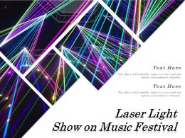Laser Light Show On Music Festival