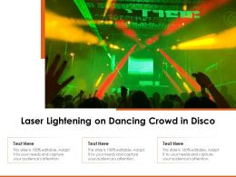 Laser Lightening On Dancing Crowd In Disco