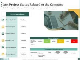Last Project Status Related To The Company Ppt Powerpoint Presentation Portfolio Grid