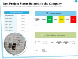 Last Project Status Related To The Company Sponsor Ppt Powerpoint Presentation File Format