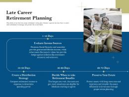 Late Career Retirement Planning Pension Plans Ppt Powerpoint Presentation Icons