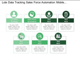 Late Data Tracking Sales Force Automation Mobile Computing