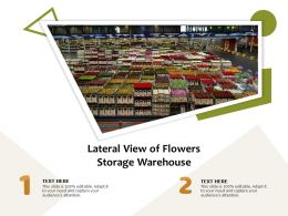 Lateral View Of Flowers Storage Warehouse