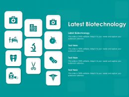 Latest Biotechnology Ppt Powerpoint Presentation Layouts Picture