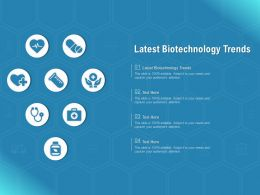Latest Biotechnology Trends Ppt Powerpoint Presentation Show Examples
