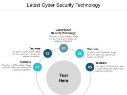 Latest Cyber Security Technology Ppt Powerpoint Presentation Gallery Rules Cpb