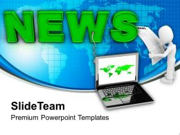 Latest News On Laptop Communication PowerPoint Templates PPT Themes And Graphics 0213