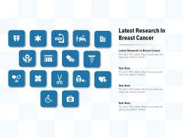 Latest Research In Breast Cancer Ppt Powerpoint Presentation Model Clipart