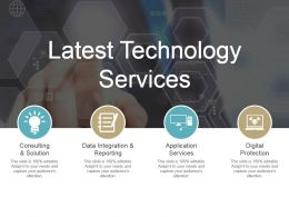 Latest Technology Services Ppt Diagrams