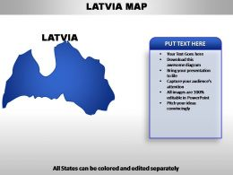 Latvia Country PowerPoint Maps