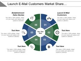 Launch E Mail Customers Market Share Establishment Sales Quotas