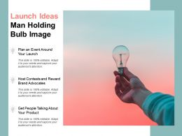 Launch Ideas Man Holding Bulb Image