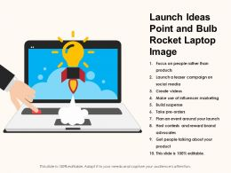 Launch Ideas Point And Bulb Rocket Laptop Image