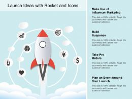 Launch Ideas With Rocket And Icons