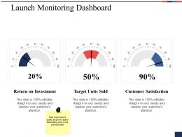 Launch Monitoring Dashboard Ppt Slides Visual Aids
