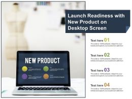 Launch Readiness With New Product On Desktop Screen