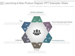 Launching A New Product Diagram Ppt Examples Slides