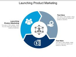 Launching Product Marketing Ppt Powerpoint Presentation Infographics Backgrounds Cpb