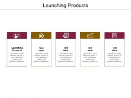 Launching Products Ppt Powerpoint Presentation File Icon Cpb