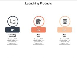Launching Products Ppt Powerpoint Presentation Gallery Infographic Template Cpb
