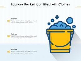 Laundry Bucket Icon Filled With Clothes
