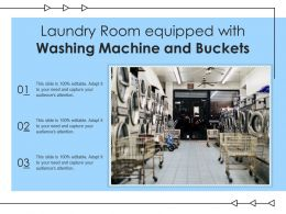 Laundry Room Equipped With Washing Machine And Buckets