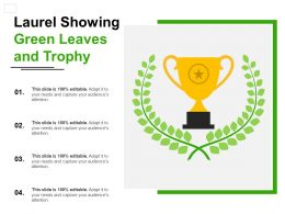 Laurel Showing Green Leaves And Trophy