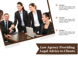 Law Agency Providing Legal Advice To Clients