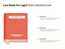 Law Book For Legal Team Advisory Icon