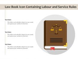 Law Book Icon Containing Labour And Service Rules