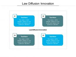 Law Diffusion Innovation Ppt Powerpoint Presentation Infographic Template Smartart Cpb