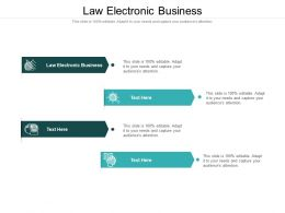Law Electronic Business Ppt Powerpoint Presentation Professional Layout Ideas Cpb
