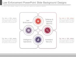Law Enforcement Powerpoint Slide Background Designs