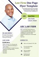 Law Firm One Page Flyer Template Presentation Report Infographic PPT PDF Document