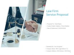 Law Firm Service Proposal Powerpoint Presentation Slides