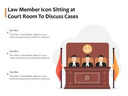 Law Member Icon Sitting At Court Room To Discuss Cases