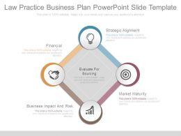 Law Practice Business Plan Powerpoint Slide Template