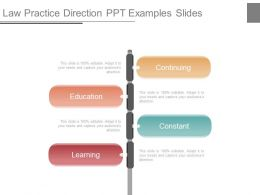 Law Practice Direction Ppt Examples Slides