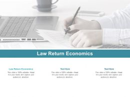 Law Return Economics Ppt Powerpoint Presentation Icon Infographic Template Cpb