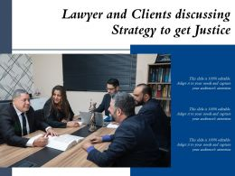 Lawyer And Clients Discussing Strategy To Get Justice