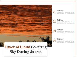 Layer Of Cloud Covering Sky During Sunset