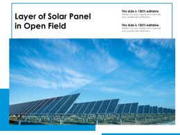 Layer Of Solar Panel In Open Field