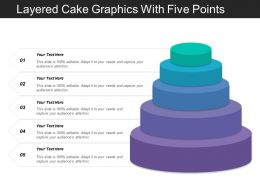 Layered Cake Graphics With Five Points