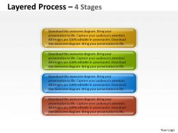 Layered Process 4 Steps diagram 17