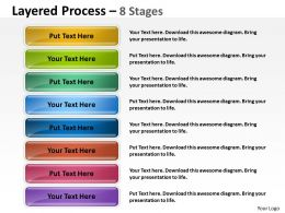 Layered Process 8 Stages diagram 17